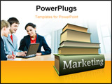 PowerPoint Template - concept of marketing education