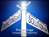 PowerPoint Template - street post with marketing blvd and solution way signs