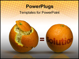 PowerPoint Template - Concept image with two oranges to depict solutions