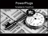 PowerPoint Template - ocket watch, skeleton key, and business section of newspaper portray success in business and financ