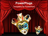 PowerPoint Template - wonderful venetian masks