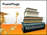PowerPoint Template - some pile of old mathematic education books