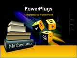 PowerPoint Template - Illustration of mathematical with three cubes and colour