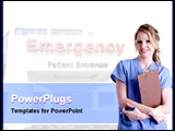 PowerPoint Template - lady doctor with medical report