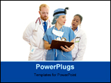 PowerPoint Template - three medical consultant are consulting