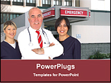 PowerPoint Template - a team of doctor standing infront of emergency block