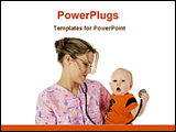 PowerPoint Template - a lady child specialist with a baby