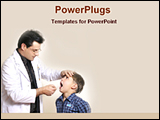 PowerPoint Template - a dentist checking teeth