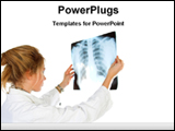 PowerPoint Template - lady doctor checking X-ray report