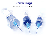 PowerPoint Template - three syringes on a desk