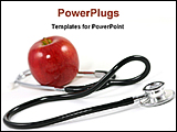 PowerPoint Template - image of a apple and stethoscope