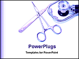 PowerPoint Template - image of medical tools