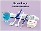 PowerPoint Template - dental health tools