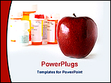 PowerPoint Template - apple with medicine bottles