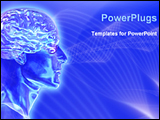 PowerPoint Template - image represents brain waves of human body