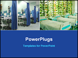 PowerPoint Template - inside of a hospital wards