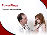 PowerPoint Template - doctor perfoming cardiac exam