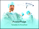 PowerPoint Template - surgeons in a operation theater