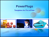 PowerPoint Template - three different images of medical science