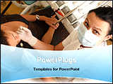 PowerPoint Template - a dentist with her patient
