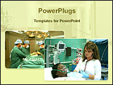 PowerPoint Template - image of operation theater and intensive care unit