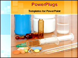 PowerPoint Template - image of drugs and injections