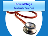 PowerPoint Template - image of a stethoscope