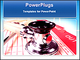 PowerPoint Template - close view of a stethoscope