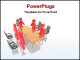 PowerPoint Template - image of a illustrated board meeting