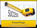 PowerPoint Template - a rule measuring the word success.