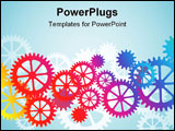 PowerPoint Template - A Mechanical Vector Background with Gears and Cogs