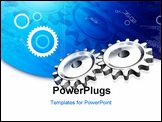 PowerPoint Template - High quality 3d render gear in digital background