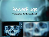 PowerPoint Template - High-tech x-ray image on computer