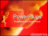 PowerPoint Template - Foetus with obstetrics text