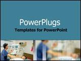 PowerPoint Template - Technician conducting an ultrasound