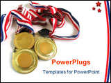 PowerPoint Template - 3 gold medals