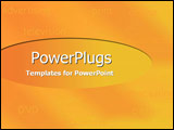 PowerPoint Template - Generic listing of media terms against orange and