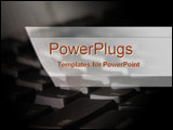 PowerPoint Template - Keyboard in close-up
