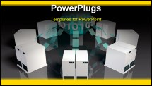 PowerPoint Template - Social Media Servers System on the Internet