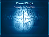 PowerPoint Template - brain on blue and abstract medical background