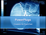 PowerPoint Template - brain tomography detail for diagnose of brain desease