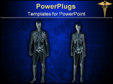 PowerPoint Template - anatomically correct xray, x-ray of the human male body, man and woman.