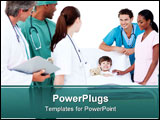 PowerPoint Template - Positive medical team taking care of a little boy in the hospital