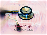PowerPoint Template - ecg with a black and silver stethescope