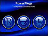 PowerPoint Template - a set of three blue medical web buttons
