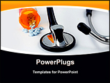 PowerPoint Template - cardiac stethoscope and health care reform antiquity