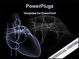 PowerPoint Template - x-ray of a human heart