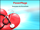 PowerPoint Template - image of heart and stethoscope