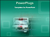PowerPoint Template - image of emergency block of a hospital