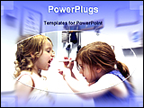 PowerPoint Template - two little girl playing as a doctor
